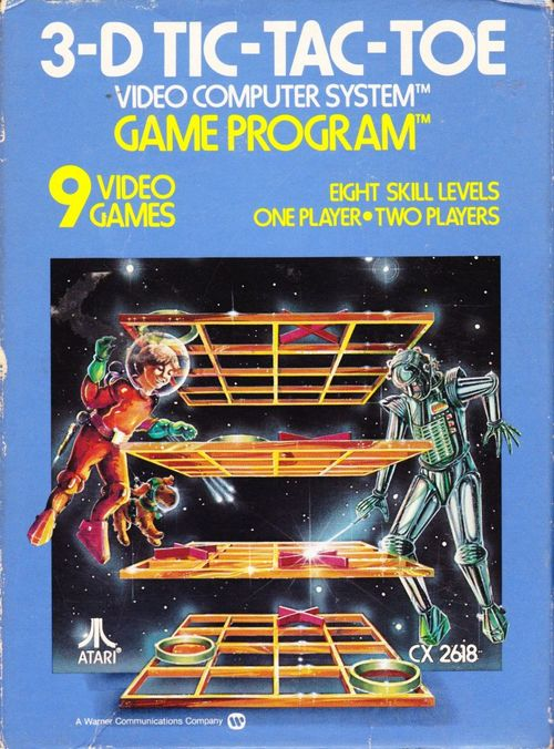 Cover for 3-D Tic-Tac-Toe.