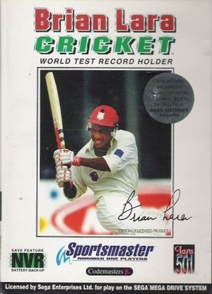 Cover for Brian Lara Cricket.