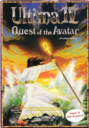 Cover for Ultima IV: Quest of the Avatar.