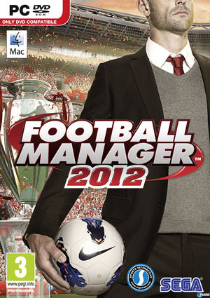 Cover for Football Manager 2012.