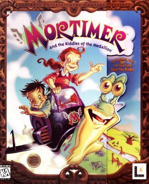Cover for Mortimer and the Riddles of the Medallion.