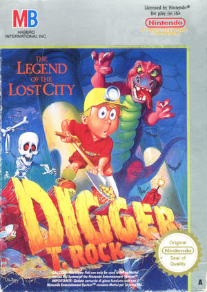 Cover for Digger T. Rock: Legend of the Lost City.