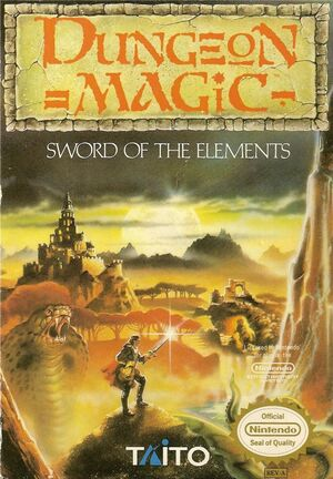 Cover for Dungeon Magic: Sword of the Elements.