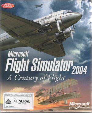 Cover for Flight Simulator 2004: A Century of Flight.