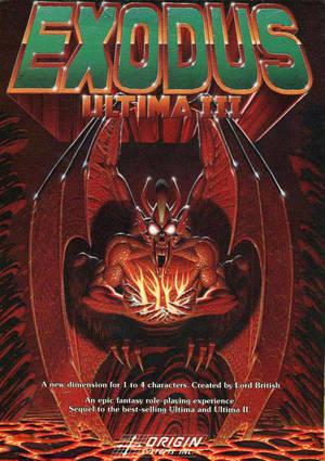 Cover for Ultima III: Exodus.