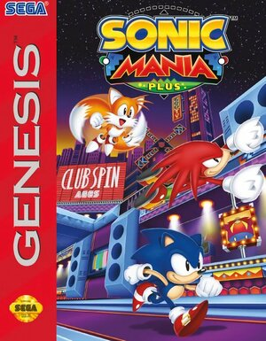 Cover for Sonic Mania Plus.