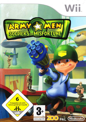 Cover for Army Men: Soldiers of Misfortune.