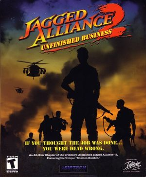 Cover for Jagged Alliance 2: Unfinished Business.