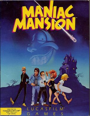 Cover for Maniac Mansion.