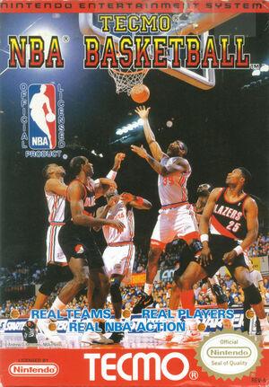 Cover for Tecmo NBA Basketball.