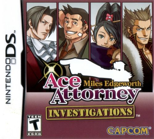 Cover for Ace Attorney Investigations: Miles Edgeworth.