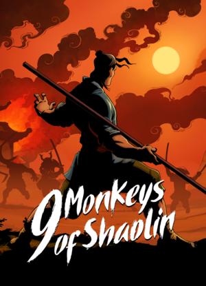 Cover for 9 Monkeys of Shaolin.