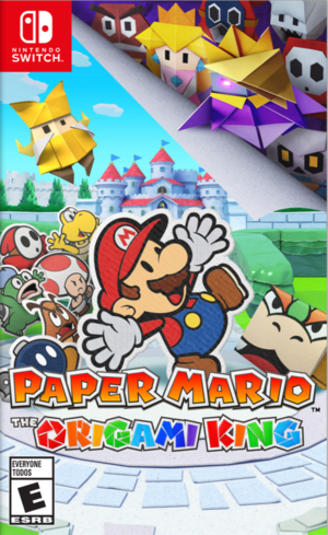 Cover for Paper Mario: The Origami King.