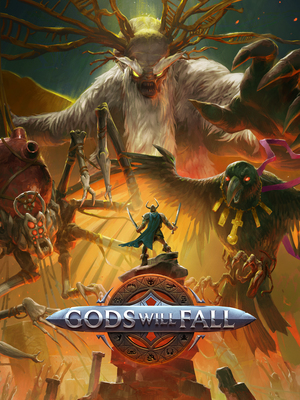 Cover for Gods Will Fall.