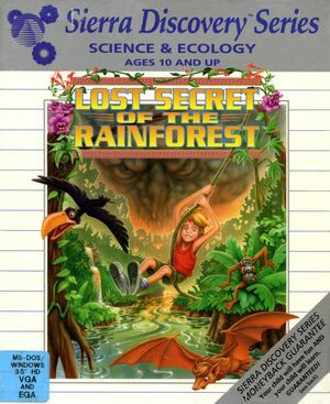 Cover for Lost Secret of the Rainforest.