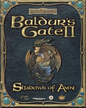 Cover for Baldur's Gate II: Shadows of Amn.