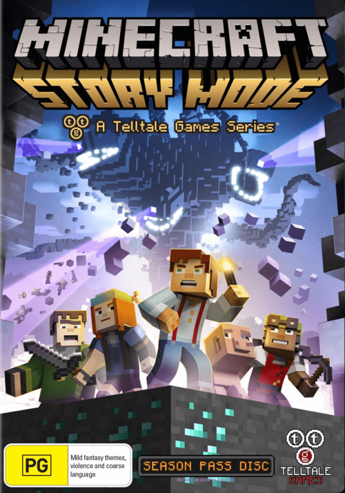 Cover for Minecraft: Story Mode.