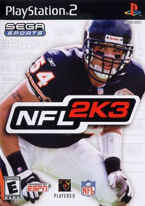 Cover for NFL 2K3.