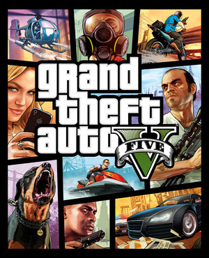 Cover for Grand Theft Auto V.
