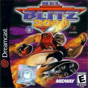 Cover for NFL Blitz 2000.