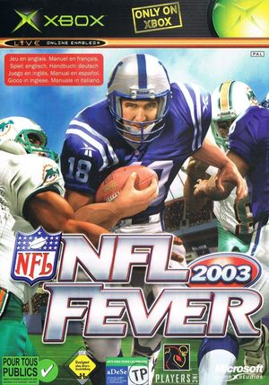 Cover for NFL Fever 2003.