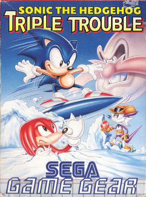 Cover for Sonic Triple Trouble.