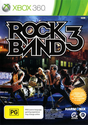 Cover for Rock Band 3.