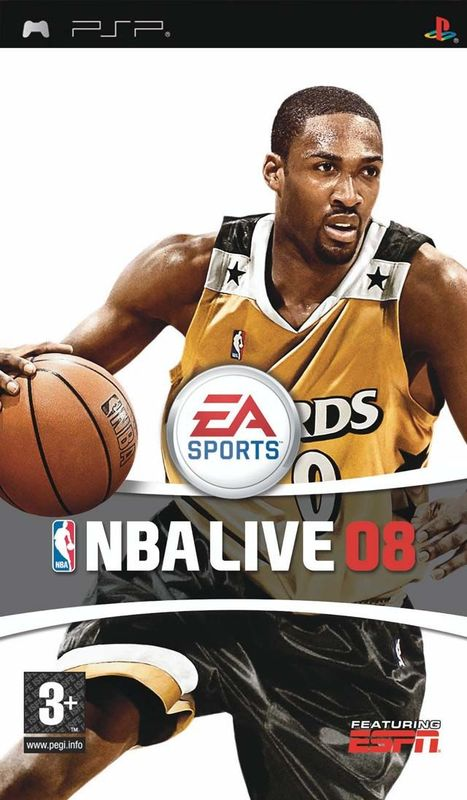 Cover for NBA Live 08.