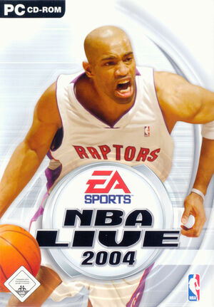 Cover for NBA Live 2004.