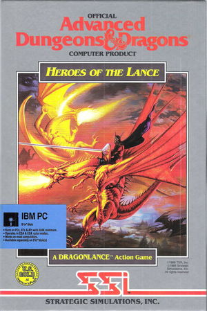Cover for Heroes Of The Lance.