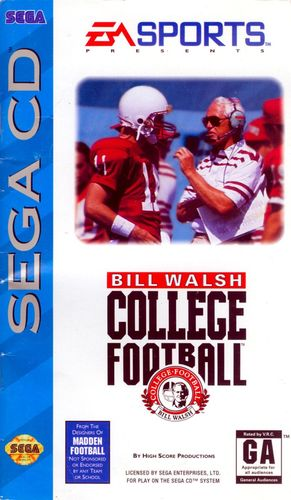 Cover for Bill Walsh College Football.
