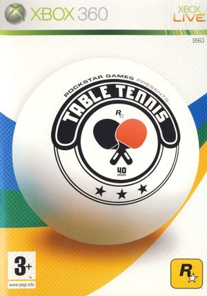 Cover for Rockstar Games presents Table Tennis.