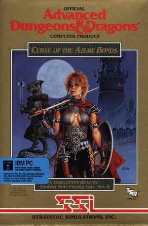 Cover for Curse of the Azure Bonds.