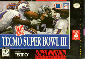 Cover for Tecmo Super Bowl III: Final Edition.