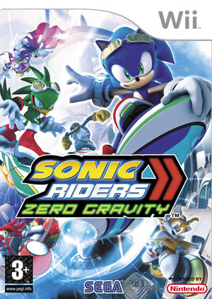 Cover for Sonic Riders: Zero Gravity.