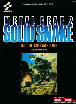 Cover for Metal Gear 2: Solid Snake.