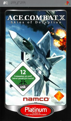 Cover for Ace Combat X: Skies of Deception.