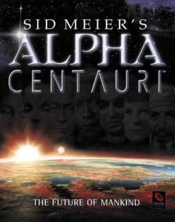 Cover for Sid Meier's Alpha Centauri.