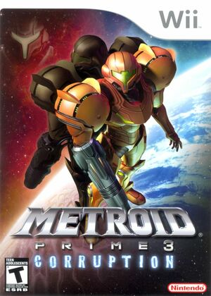 Cover for Metroid Prime 3: Corruption.