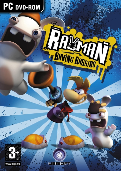 Cover for Rayman Raving Rabbids.