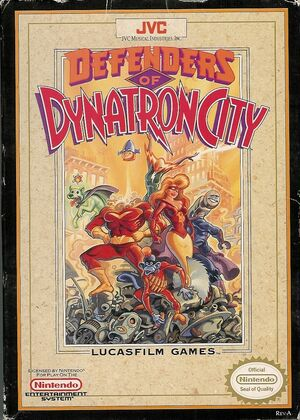 Cover for Defenders of Dynatron City.