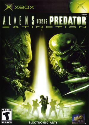 Cover for Aliens Versus Predator: Extinction.