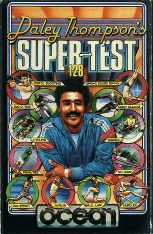 Cover for Daley Thompson's Super-Test.