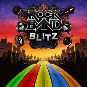 Cover for Rock Band Blitz.