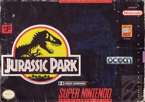 Cover for Jurassic Park.