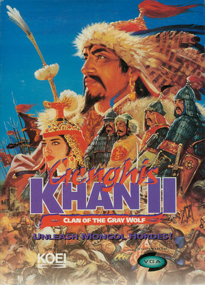 Cover for Genghis Khan II: Clan of the Gray Wolf.