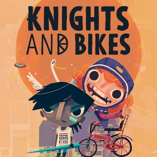 Cover for Knights and Bikes.