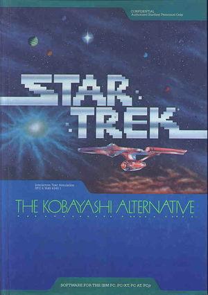 Cover for Star Trek: The Kobayashi Alternative.