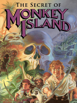 Cover for The Secret of Monkey Island.