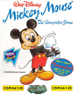 Cover for Mickey Mouse: The Computer Game.